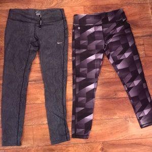 Pants - 2 pairs of leggings Nike & ifix